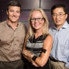 (l to r) John Rogers, professor of materials science and engineering; Deana McDonagh, professor of industrial design; and Yonggang Huang, Northwestern University professor of mechanical engineering and civil and environmental engineering.