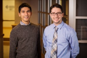 (l to r) Rylan Dmello, graduate student; and Kyle Smith, professor of mechanical science and engineering