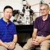 Ning Wang, professor of mechanical science and engineering; and Andrew Belmont, professor of cell and developmental biology